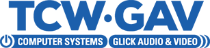 TCW Computer Systems, Inc. & Glick Audio and Video Logo